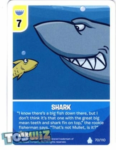 Topps Club Penguin Card-Jitsu Game Basic Series 1 Single Card #70 Shark