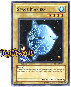 YuGiOh GX Fury from the Deep Single Card SD4-EN004 Space Mambo