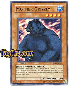 YuGiOh GX Fury from the Deep Single Card SD4-EN005 Mother Grizzly