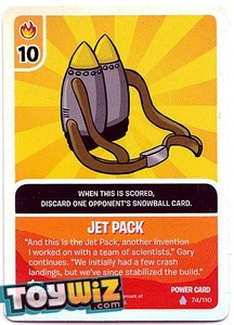 Topps Club Penguin Card-Jitsu Game Basic Series 1 Single Foil Power Card #74 Jet Pack