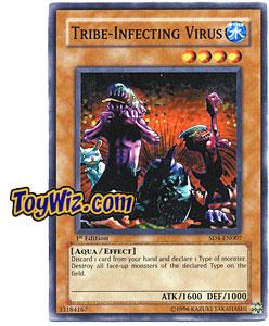 YuGiOh GX Fury from the Deep Single Card Tribe-Infecting Virus SD4-EN007
