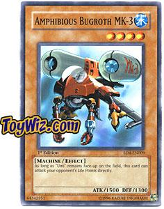 YuGiOh GX Fury from the Deep Single Card SD4-EN009 Amphibious Bugroth MK-3