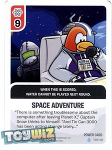 Topps Club Penguin Card-Jitsu Game Basic Series 1 Single Foil Power Card #79 Space Adventure
