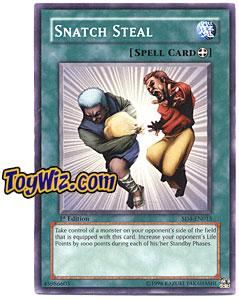 YuGiOh GX Fury from the Deep Single Card SD4-EN015 Snatch Steal