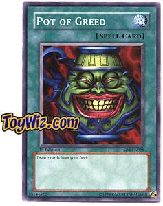 YuGiOh GX Fury from the Deep Single Card SD4-EN018 Pot of Greed