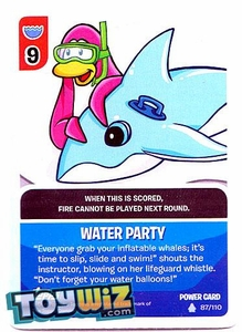 Topps Club Penguin Card-Jitsu Game Basic Series 1 Single Foil Power Card #87 Water Party