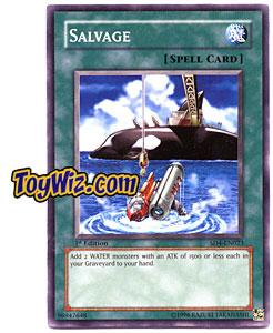 YuGiOh GX Fury from the Deep Single Card SD4-EN023 Salvage