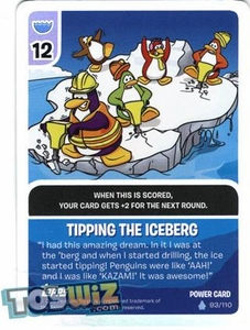 Topps Club Penguin Card-Jitsu Game Basic Series 1 Single Foil Power Card #93 Tipping the Iceberg