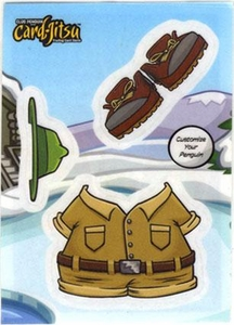 Topps Club Penguin Trading Card Game Jitsu Deck Sticker Card Explorer