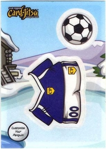 Topps Club Penguin Trading Card Game Jitsu Deck Sticker Card Soccer