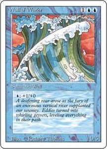 Magic the Gathering Revised Edition Single Card Uncommon Wall of Water Slightly Played Condition