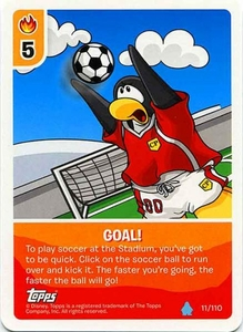 Topps Club Penguin Card-Jitsu Game Water Series 4 Single Card #11 Goal!