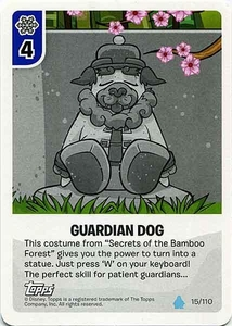 Topps Club Penguin Card-Jitsu Game Water Series 4 Single Card #15 Guardian Dog