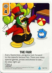 Topps Club Penguin Card-Jitsu Game Water Series 4 Single Card #16 The Fair