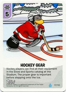 Topps Club Penguin Card-Jitsu Game Water Series 4 Single Card #17 Hockey Gear
