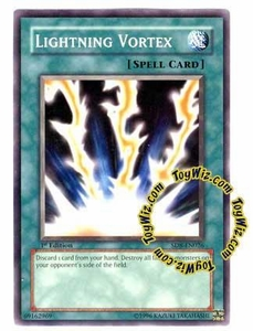 YuGiOh GX Lord of the Storm Single Card Common SD8-EN026 Lightning Vortex