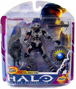 Halo 3 McFarlane Toys Series 6 [MEDAL EDITION] Exclusive Action Figure STEEL Spartan Soldier Recon