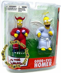 McFarlane Toys The Simpsons Series 2 Action Figure Good & Evil Homer