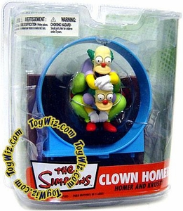 McFarlane Toys The Simpsons Series 2 Action Figure Homer & Krusty in Clown Homer