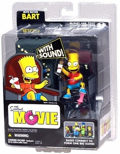 McFarlane Toys The Simpsons Movie Mayhem Action Figure with Sound Bart