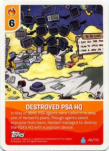 Topps Club Penguin Card-Jitsu Game Water Series 4 Single Card #46 Destroyed PSA HQ