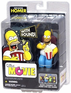 McFarlane Toys The Simpsons Movie Mayhem Action Figure with Sound Homer with Popcorn