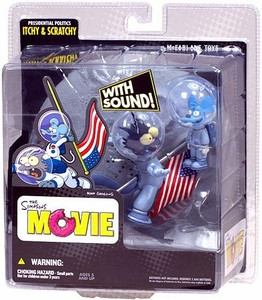 McFarlane Toys The Simpsons Movie Mayhem Exclusive Action Figure with Sound Itchy & Scratchy