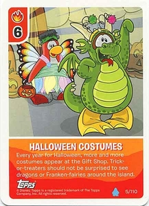 Topps Club Penguin Card-Jitsu Game Water Series 4 Single Card #5 Halloween Costumes