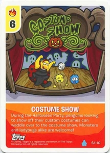 Topps Club Penguin Card-Jitsu Game Water Series 4 Single Card #6 Costume Show