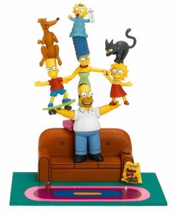 McFarlane Toys The Simpsons Action Figure Deluxe Boxed Set Family Couch Gag Damaged Package!