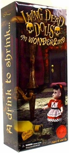 Mezco Toyz Alice In Wonderland 2010 SDCC San Diego Comic-Con Exclusive Mezco Toyz Living Dead Dolls Figure A Drink To Shrink... And A Cake To Grow [Includes Story Book & Art Cards]