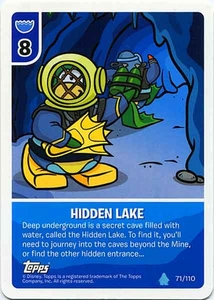 Topps Club Penguin Card-Jitsu Game Water Series 4 Single Card #71 Hidden Lake