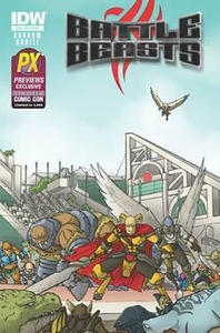 Battle Beasts 2012 SDCC San Diego Comic Con Exclusive Comic Book Battle Beasts #1