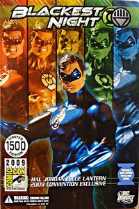 DC Direct Green Lantern Blackest Night 2009 SDCC San Diego Comic-Con Exclusive Action Figure Hal Jordan BLUE Lantern Only 1,500 Made!