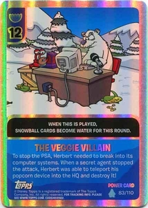 Topps Club Penguin Card-Jitsu Game Water Series 4 Single Foil Power Card #83 The Veggie Villain BLOWOUT SALE!