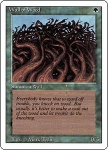 Magic the Gathering Revised Edition Single Card Common Wall of Wood