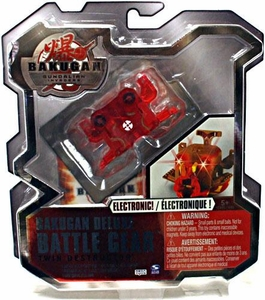 Bakugan Deluxe Electronic Battle Gear Pyrus [Red] Twin Destructor Adds 130 G!