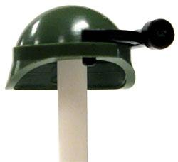 COBI Blocks LOOSE Minifigure Part Green Army Helmet with Floodlight