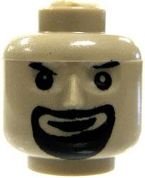 COBI Blocks LOOSE Minifigure Part Black Goatee Head