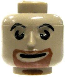 COBI Blocks LOOSE Minifigure Part Brown Goatee Head