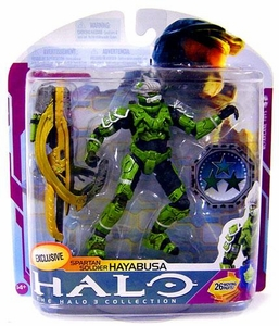Halo 3 McFarlane Toys Series 6 [MEDAL EDITION] Exclusive Action Figure SAGE Spartan Soldier Hayabusa COLLECTOR'S CHOICE!