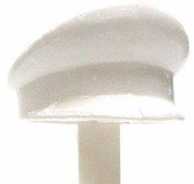 COBI Blocks LOOSE Minifigure Part White Dress Cap