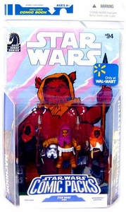 Star Wars Exclusive 2009 Action Figure Comic 3-Pack Dark Horse: Star Wars #94: Ewoks Machook, Keoulkeech & Kettch