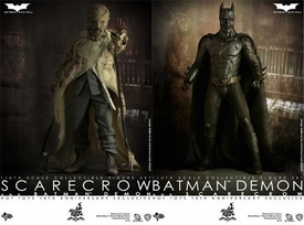 Hot Toys Batman Begins 10th Anniversary Exclusive Movie Masterpiece Deluxe Collectors 1/6 Scale Action Figure 2-Pack Batman Demon & Scarecrow