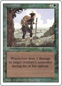 Magic the Gathering Revised Edition Single Card Uncommon Wanderlust