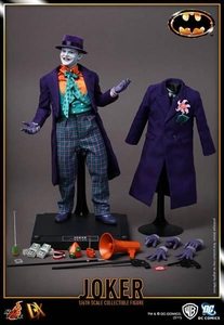 Hot Toys Batman 1989 Movie Masterpiece Deluxe Collectors 1/6 Scale Action Figure The Joker [Jack Nicholson]