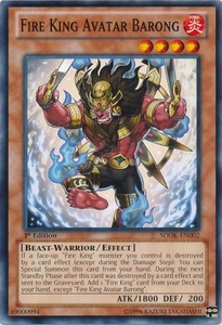 YuGiOh Structure Deck: Onslaught of the Fire Kings Single Card Common SDOK-EN002 Fire King Avatar Barong