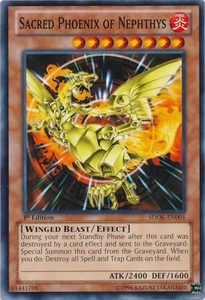 YuGiOh Structure Deck: Onslaught of the Fire Kings Single Card Common SDOK-EN004 Sacred Phoenix of Nephthys