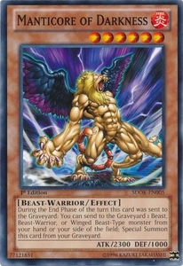 YuGiOh Structure Deck: Onslaught of the Fire Kings Single Card Common SDOK-EN005 Manticore of Darkness