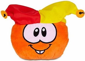 Disney Club Penguin 4 Inch Series 12 Plush Puffle Orange with Jester Hat [Includes Coin with Code!]